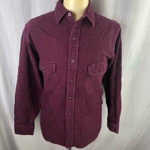Moose Creek Cotton Flannel Shirt Mens Maroon LT